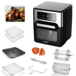 GoWISE USA 12.7 Quart Air Fryer Toaster Oven Select w/Rotiss