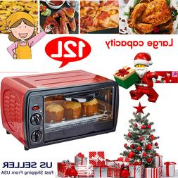12L Toaster Oven Electric Broiler Bread Rotisserie Grill Foo