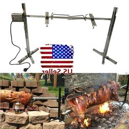 30KG Large Grill Rotisserie Spit Roaster Rod Electric BBQ Pi