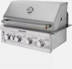 4 Burner Built In Propane Grill Outdoor Kitchen Island Stain