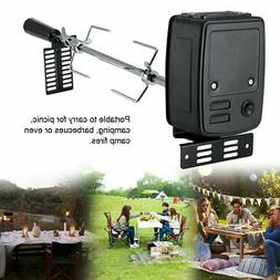 """42"""" Universal Rotisserie Grill BBQ Kit Spit Rod Stainless St"""