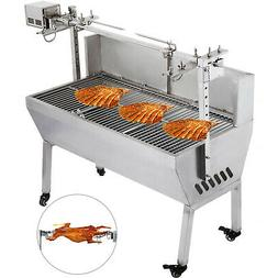 "46"" Large Stainless Steel BBQ,Pig,Lamb,Goat,Chicken Spit Roa"
