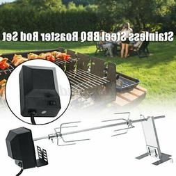 4w Stainless Steel Spit Roaster Rotisserie Rod BBQ Pig Chick