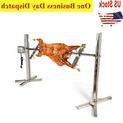 53'' Spit Roaster Rotisserie Rod Electric BBQ Grill Torque 7