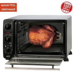 Elite Cuisine .8Cu. Ft. 5 Function Toaster Oven Broiler Roti