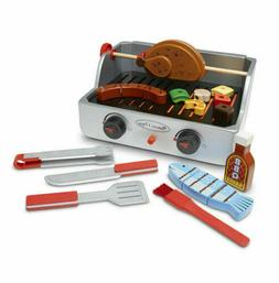 Melissa & Doug Rotisserie and Grill Wooden Barbecue Play Foo
