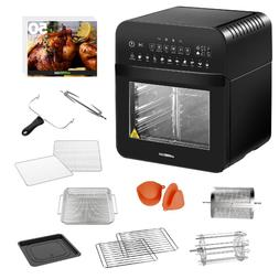 GoWISE USA Air Fryer Oven Rotisserie Dehydrator 11-Cooking P