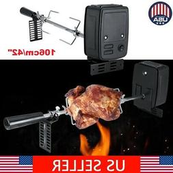 Barbecue Stainless Steel Spit Rod Meat Forks with Electric M