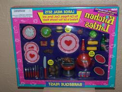 Barbie Tyco Kitchen Littles BARBEQUE FEAST Grill Rotisserie