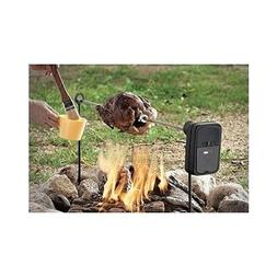 Camping Spit Rotisserie Fire Pit Grill Roast Outdoor Backyar