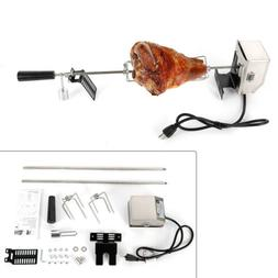 Electric 110V BBQ Barbecue Rotisserie Spit Universal Kit Roa