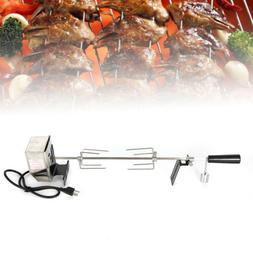 Electric BBQ Barbecue Rotisserie Spit Universal Kit Roast Gr