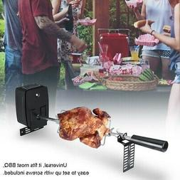"""Electric Motor 42"""" Universal Rotisserie Grill BBQ Kit Spit R"""
