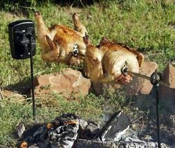 grizzly spit campfire rotisserie system for grills