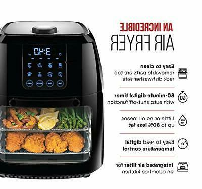 6.3 Qt. Fryer Rotisserie Touch Screen Presets BPA-Free