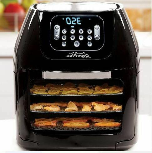 Power Air Oven All-In-One Quart Dehydrator Rotisserie 6QT New