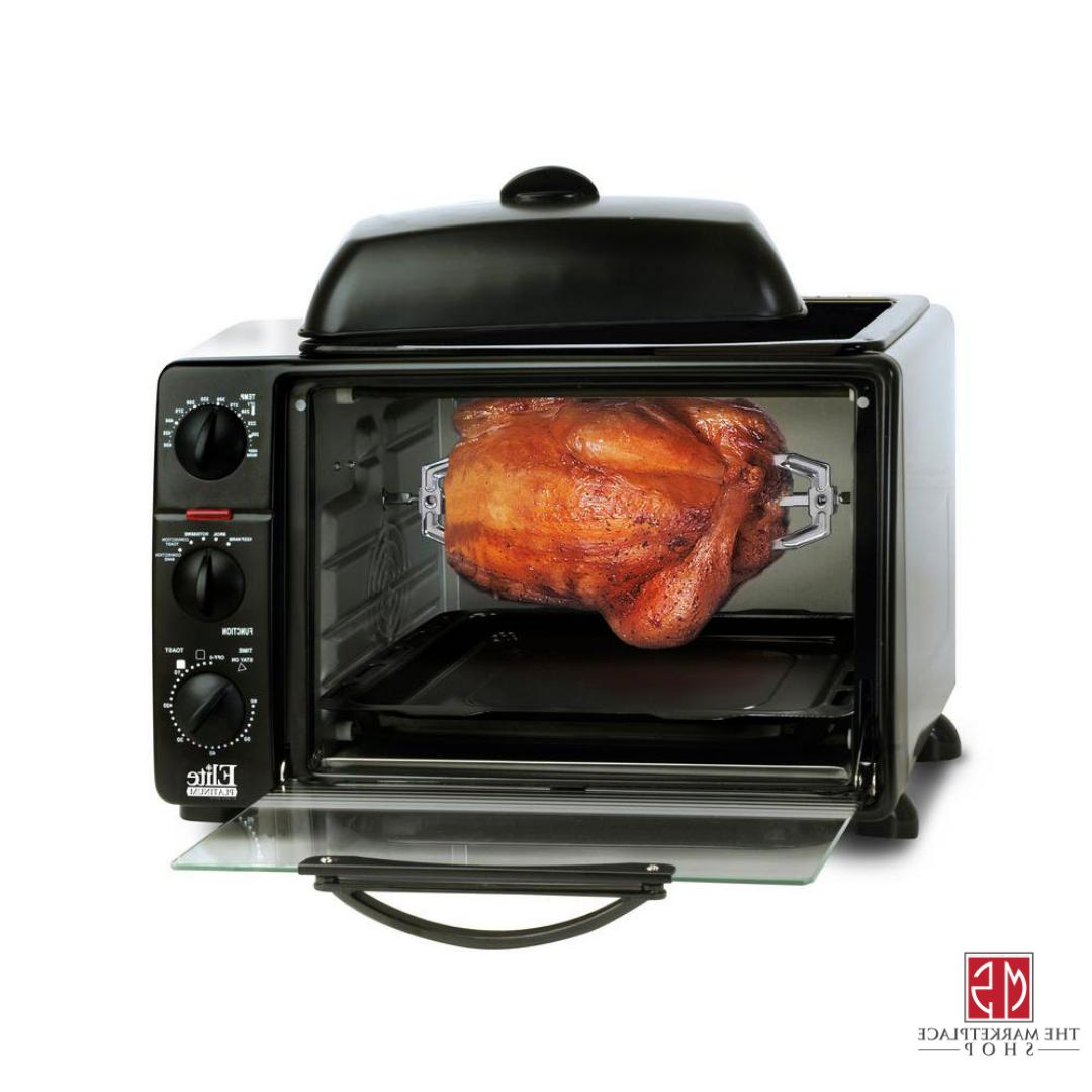 Toaster Rotisserie Grill Cooking
