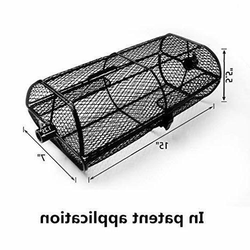 Rotisserie Grill French Fries Basket for Any Gas Grill or Ceramic