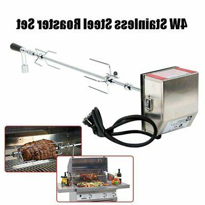 Stainless BBQ Grill Pig Roaster Rod Kit