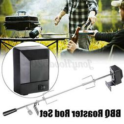Large Grill Rotisserie Spit Roaster Rod Charcoal BBQ Chicken