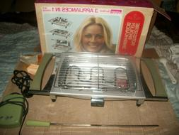 New Vintage Wards Indoor Electric BBQ Grill With Rotisserie