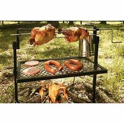 Outdoor Campfire Cooking Grill Rotisserie Camping Equipment
