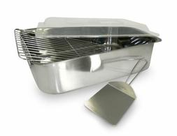 Prime Rib Roasting Pan With Rack And Lid Pork Lasagna Deep B