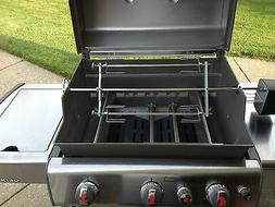 """Rotisserie add on kit for Gas Grills adds 2 more 19"""" skewers"""