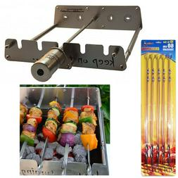 Rotisserie Kit for Gas Burner Grill with Motor Operated Rota