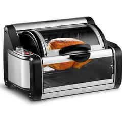 Rotisserie Toaster Oven Grill BBQ Electric Horizontal Rotati