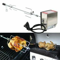 stainless steel 4w rotisserie bbq grill roaster