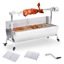 """46"""" Large Stainless Steel BBQ Pig Lamb Goat Chicken Spit Roa"""