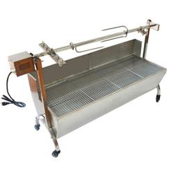"""46"""" Large Stainless Steel BBQ,Pig,Lamb,Goat,Chicken Spit Roa"""