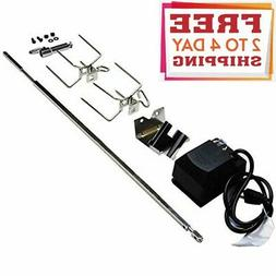 Stainless Steel Gas Grill Rotisserie Kit SUS304 For Weber Sp