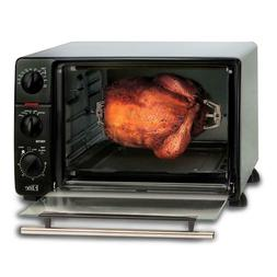 Toaster Oven 0.8 cu. ft Extra Large 60 Minute Timer Rotisser