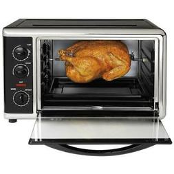 Toaster Oven Black Countertop With Convection & Rotisserie E
