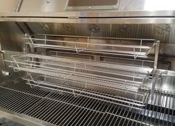 VERY LARGE Stainless Spit Roaster Rotisserie Baskets Fits 20